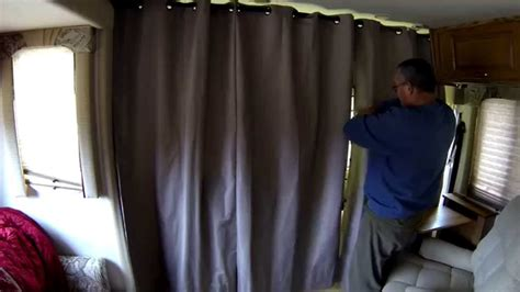 rv drapes rv temperature control curtains youtube
