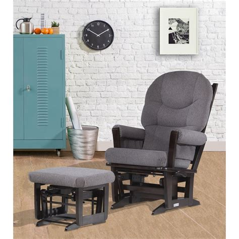 dutailier glider and ottoman set dutailier modern glider and ottoman set in espresso and