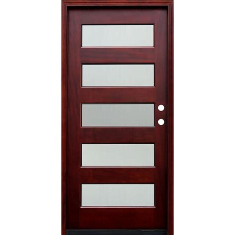 Pacific Entries 36 In X 80 In Contemporary 5 Lite Reed Home Depot Entry Doors With Glass