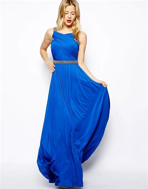 coast dresses coast coast lauder maxi dress with beaded waist at asos