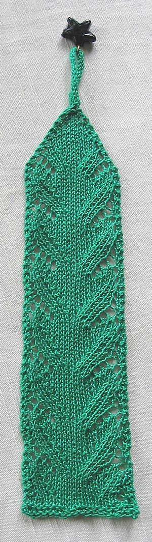 knitted bookmarks lace waves bookmark allfreeknitting