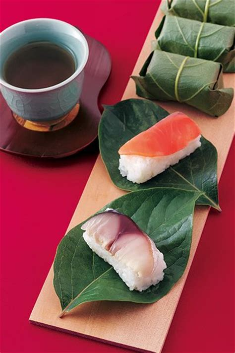 kakinohazushi is a a of sushi which has slice of