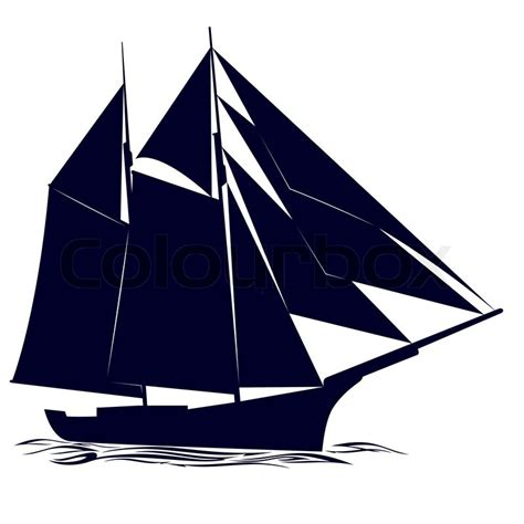 old boat vector quot contour of an old sailing ship quot stock vector colourbox