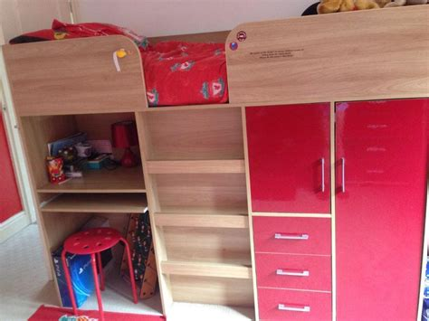 cabin bed with desk cabin bed with built in desk wardrobe and draws united kingdom gumtree
