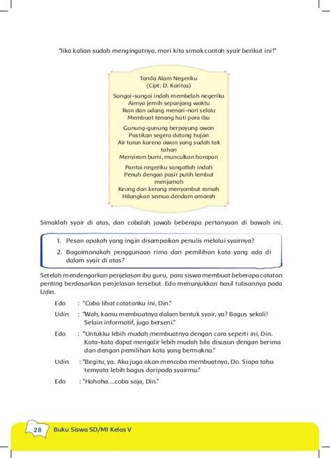 Syari Indah 1 buku kls 5 tema 5