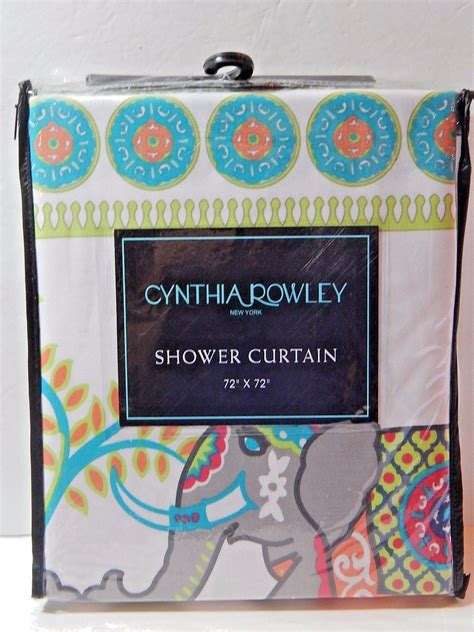 shower curtain 42 x 72 cynthia rowley fabric shower curtain elephant 72 quot x 72
