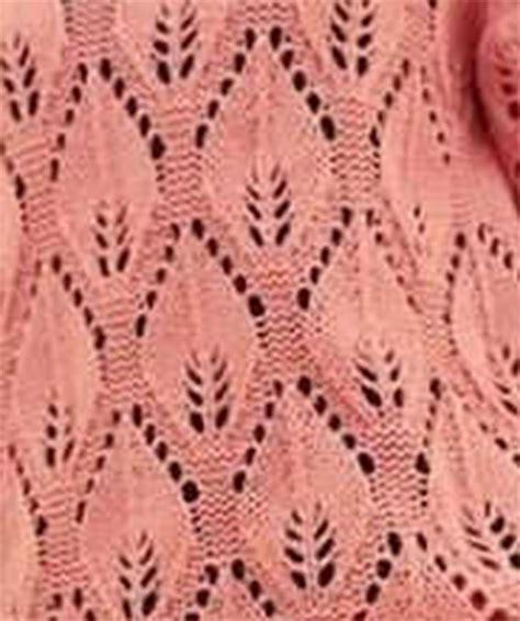 leaf stitch knitting large leaf lace knitting stitch knitting kingdom