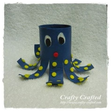 Octopus Toilet Paper Roll Craft - crafty crafted 187 archive crafts for children