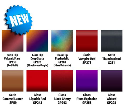 vinyl wrap colors 3m announces new vinyl wrap flip colors