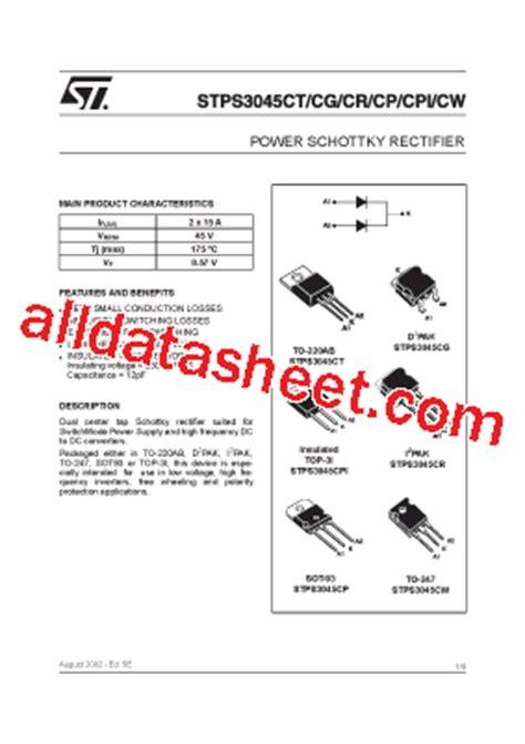 datasheet transistor on5252 pdf stps3045cw datasheet pdf stmicroelectronics