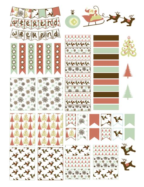 printable planner holiday stickers free christmas planner stickers printable laughing and