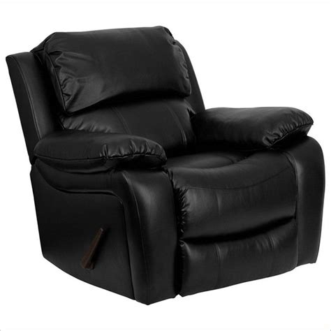 black leather rocker recliner flash furniture leather rocker recliner chair contemporary