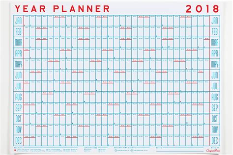 printable planner 2018 uk 2018 yearly planner fieldstation co