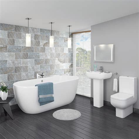modern bathroom suite pro 600 modern free standing bath suite now at