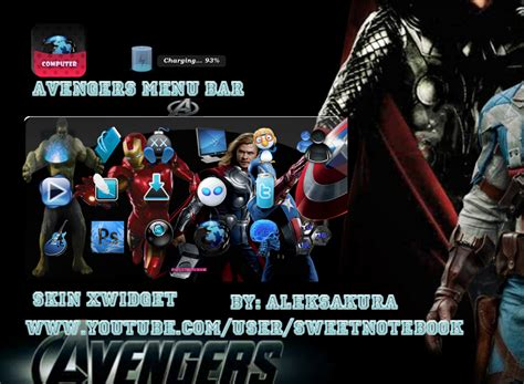 tutorial xwidget android skin xwidget avengers menu android bar by aleksakura on