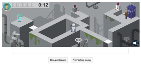 doodle you can play marks 50th anniversary of doctor who with multi