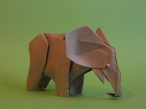 How To Make A Paper Elephant - origami elephant by h on deviantart