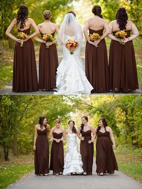 Brown Bridal by Stunning Wine Themed Fall Wedding Cristine