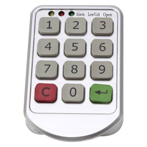 bathroom numbers digital electronic password keypad number cabinet door