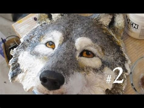 How To Make A Wolf Mask Out Of Paper - how to make a wolf mask part 2