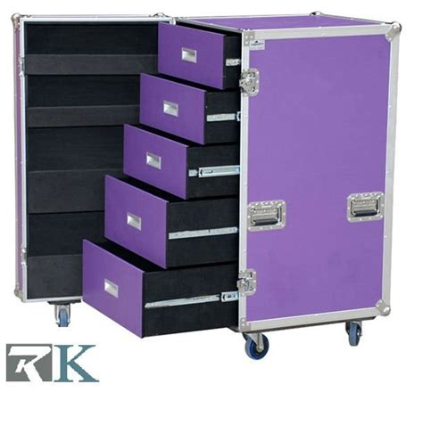 Storage Drawers On Wheels Wheeled Storage Cases With 5 Drawers For Trade Show