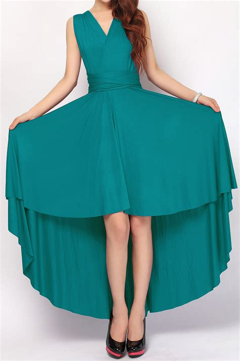 teal infinity dress teal green high low bridesmaid infinity dresses hl 38