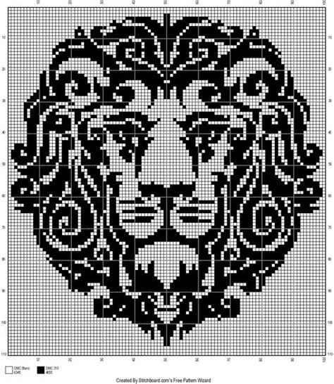 tribal pattern lion lion tribal cross stitch pattern cross stitch