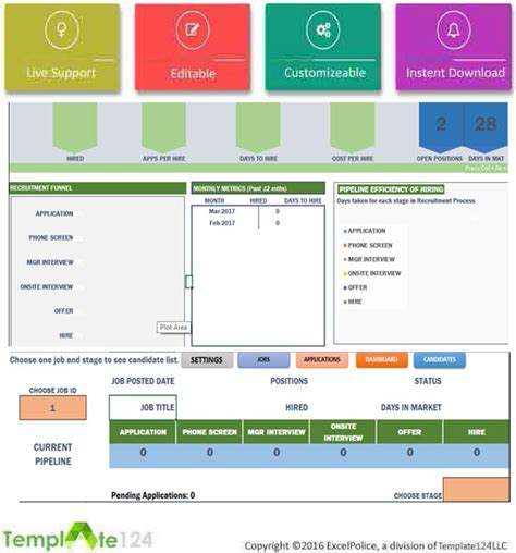 Recruitment Manager Excel Template Dashboard Tracking Template124 Recruitment Dashboard Template