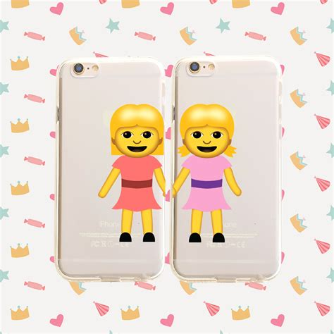friends emoji best friends emoji pair clear tpu case cover phone