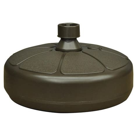 Patio Umbrella With Base Shop Mfg Corp Earth Brown Patio Umbrella Base At Lowes