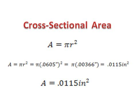 cross sectional area calculator formula to calculate cross sectional area 28 images