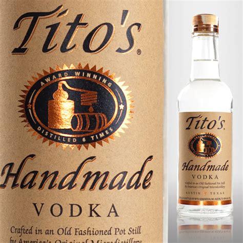 Handcrafted Vodka - titos vodka