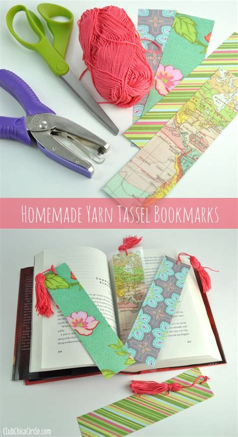 Paper Bookmarks To Make - how to make a tassel bookmarks with scrapbook