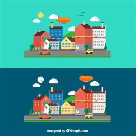 imagenes de paisajes urbanos animados paisaje urbano en estilo de dibujos animados descargar