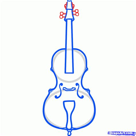 Christmas Tree Drawing Cello 20clipart Clipart Panda Free Clipart Images