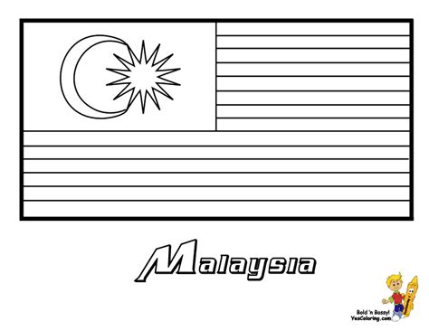Malaysia Flag Coloring Page coloring pages malaysia flag