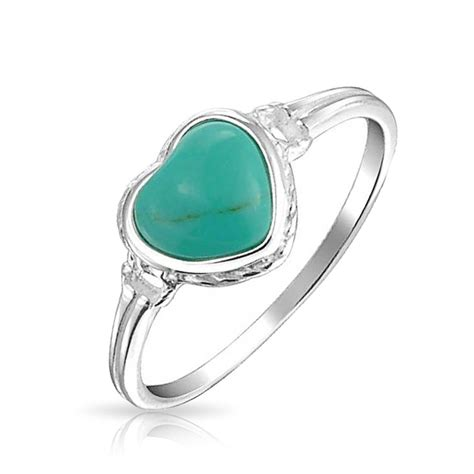 gemstone turquoise ring antiqued sterling silver