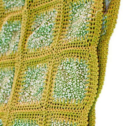 Crochet Patchwork - crocheting fabric squares together for a blanket