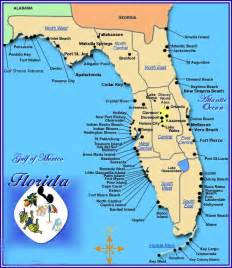 map gulf coast florida map of gulf coast florida cities images