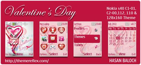 nokia themes valentines day special theme valentine s day themes for nokia series 40
