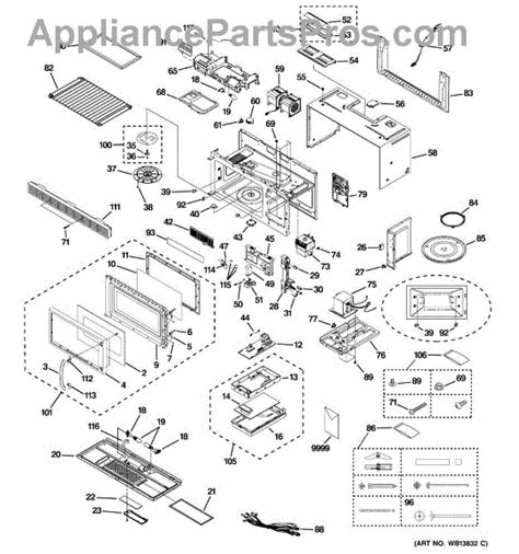 ge spacemaker microwave parts diagram ge wb07x10965 panel asm appliancepartspros