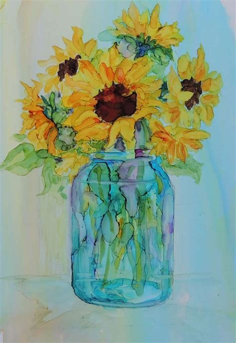25 best ideas about watercolor sunflower on pinterest