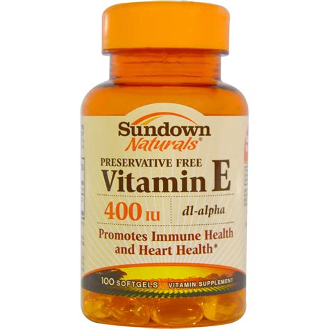 sundown naturals vitamin e 400 iu 100 softgels iherb