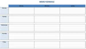 Schedule Template by 7 Day Week Schedule Template Calendar Template 2016