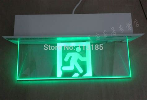 green led emergency lights new design 5w green light glass panel 3 hours duration led