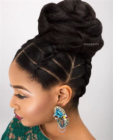 natural hairstyles with swoop creative updo by dionnesmithhair https
