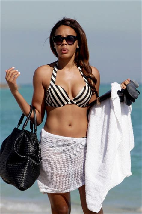 Angela Top candids angela simmons jet skis in miami and laili ali and 8 month sydney went