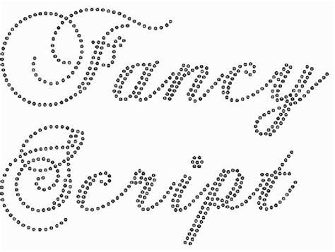 Transfer Letter Generator Fancy Script Rhinestone Font Transfers