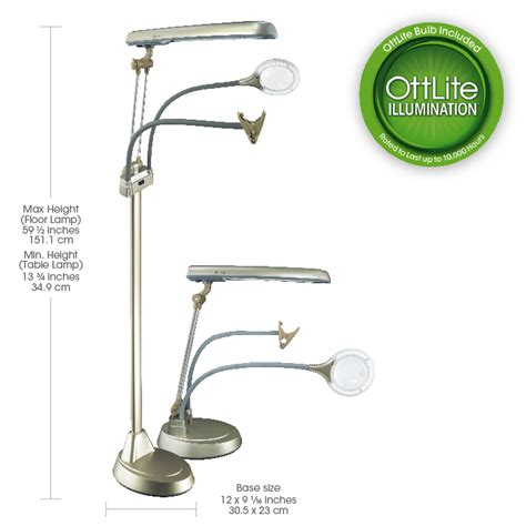 ottlite 24w 3 in 1 craft floor l ottlite ultimate 3 in 1 craft floor l craft l