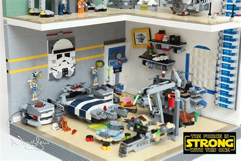lego bedroom sets lego star wars bedrooms before the force awakens technabob